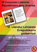 Cartel del concurso literario